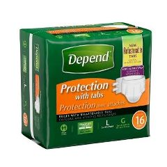 Depend Fitted Maximum Protection Briefs Refastenable Tabs
