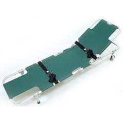 Complete Medical Supplies Easy-Fold Wheeled Stretcher w/ 5-Position Back