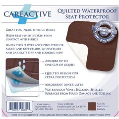 Quilted Waterproof Seat Reusable Protector / Underpad