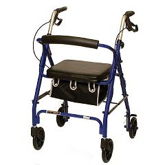 ProBasics Low Profile Aluminum Rollator, Metallic Burgundy