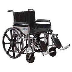 """24"""" Sentra Extra Heavy-Duty Wheelchair"""