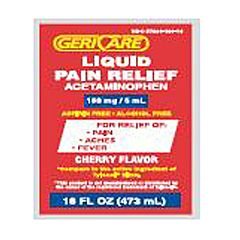 Geri-Care Pharmaceuticals Childrens Acetaminophen Elixir - 16 oz Bottle