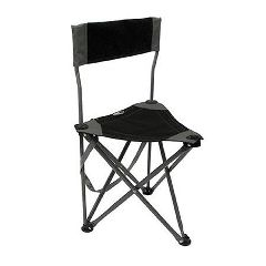 On-Site Therapist Stool Black With Backrest