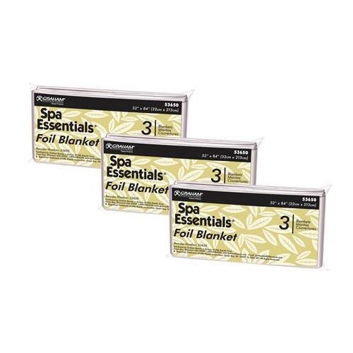 ScripHessco Spa Essentials Thermal Mylar Foil Sheet, 9 Sheets Model 278 0078