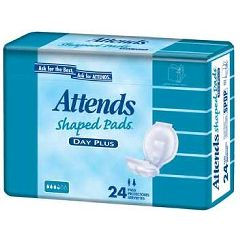 Attends Heavy Absorbency Shaped Pads