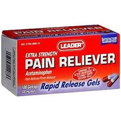 Cardinal Health Leader Pain Relief Gelcaps 500 mg