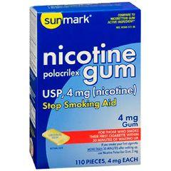 Sunmark Nicotine Gum, 4mg Original Flavor