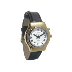 Royal Mens Royal Tel-Time One Button Talking Watch w/Leather Band