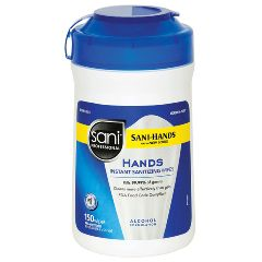 Sani-Hands Antimicrobial Hand Wipes 150/Tub