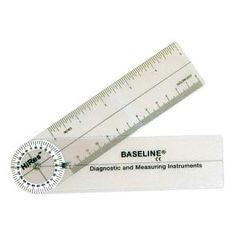 """Baseline Hi-Res Plastic Pocket Goniometer, 6"""""""