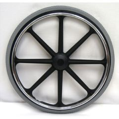 "New Solutions 24"" x 1 3/8"" Rear Mag Wheels with Urethane Tires Pair"