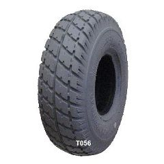 """New Solutions Gray Pneumatic DuroTrapTire - 260 x 85"""" (300-4)"""