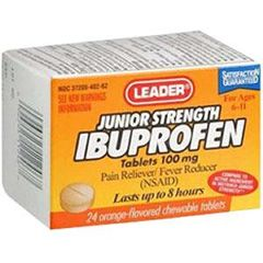 Cardinal Health Leader Ibuprofen Orange Chewable Tablets