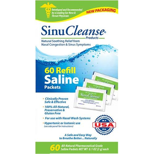SinuCleanse Saline Packets Refills Nasal Wash Model 773 0055