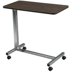 Deluxe Height Adjustable Overbed Table Non-Tilt - Silver Vein Finish
