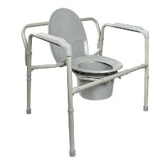 Mckesson by Drive McKesson Heavy-Duty Folding Bariatric Commode with 12 QT Bucket