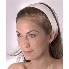 Washable Disposable Cloth Polyester Headband White 48 Pack