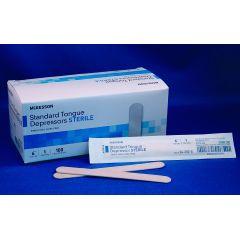McKesson Sterile Tongue Depressors - 6 inches, Single Use - Box of 100