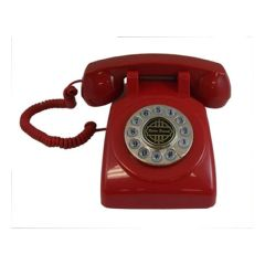 Paramount 1950 Desk Phone Red