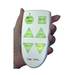 Tek Pal Large Button TV Remote Control - 6 Lighted Buttons