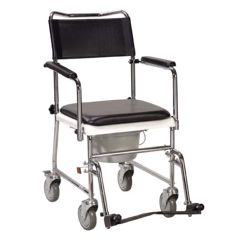 Drive Folding, Portable, Upholstered Commode with Wheels
