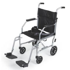 Medline Basic Steel Transport Chair - 19""