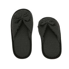 Deluxe Comfort Women Memory Foam Slipper With Butterfly Tie