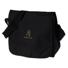 Massage Therapist Messenger Bag - Black