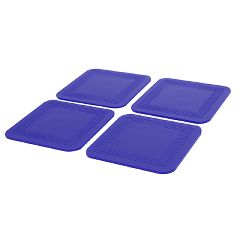Dycem Non-Slip Square Coasters, Set Of 4 Blue