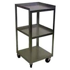 "Ideal Stainless 3 Shelf Compact Cart 14""X14""X30"""
