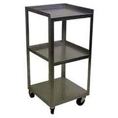 "Stainless 3 Shelf Compact Cart 14""X14""X30"""