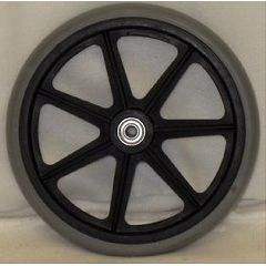 "New Solutions Economy 7 Spoke Hard Rubber Wheel - 8 x 1"""