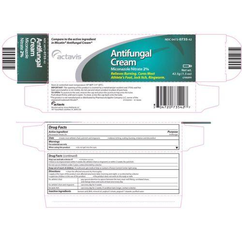 Actavis Miconazole Nitrate Antifungal Cream 1 oz. Model 168 575888 01
