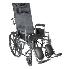 Silver Sport Reclining Wheelchair with Elevating Leg Rests