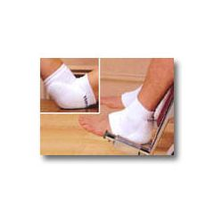 "Mabis DMI Heelbo Heel/Elbow Protectors - Large, White, fits limb circumfrence 9 1/2"" to 19"""