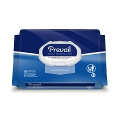 "Prevail®  Adult Disposable Washcloth - Jumbo Soft Pack Press-N-Pull Lid - 12"" x 8"""