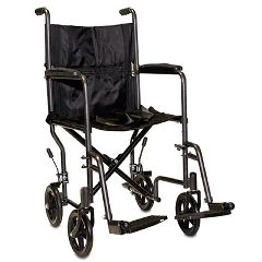 "ProBasics 17"" Steel Transport Wheelchair"