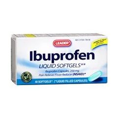 Cardinal Health Leader Ibuprofen Liquid Softgels 200 mg 40 Count