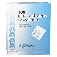 "Professional Disposables Benzalkonium Chloride Antiseptic Towelettes - 5 1/2"" x 7"""