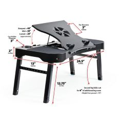 Deluxe Comfort Folding Portable Laptop Desk Black