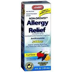 Cardinal Health Leader Children's Allergy Relief Fruit Flavor Syrup