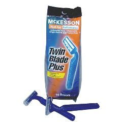 Twin Blade Plus Disposable Razors - Lubricated Strip