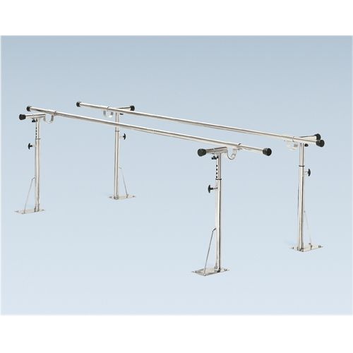 Bailey Manufacturing Parallel Bars, Floor Mounted, Height And Width Adjustable, 18 Foot Long Model 849 0076 05