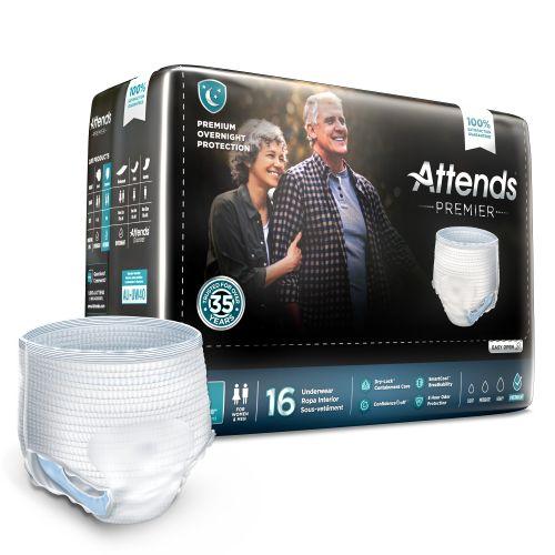 Attends Premier Attends® Premier Incontinence Underwear - Premium Overnight Protection