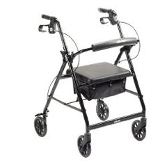 McKesson Lightweight Aluminum Rollator - 4 Wheeled