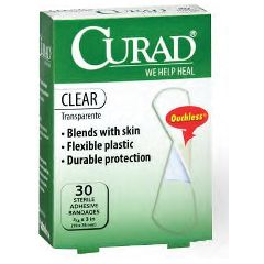 "CURAD Clear 3⁄4"" x 3"" Adhesive Bandages"