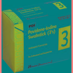PVP Iodine Swabsticks.