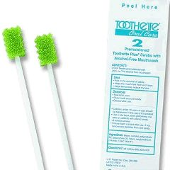 Sage Toothette Plus Oral Swabs with Mouth Refresh Solution