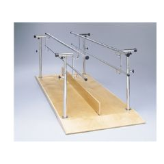 Bailey Manufacturing Parallel Bars, Wood Platform Mounted, Height And Width Adjustable, 12 Foot Long