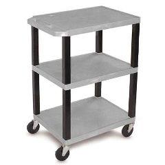 """Luxor /H Wilson 34"""" Shelf Cart - Gray"""